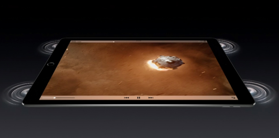Apple iPad Pro with 4-speaker Audio